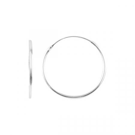 Cercei argint creole, simpli 25 mm