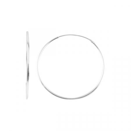 Cercei argint creole 30 mm, simpli