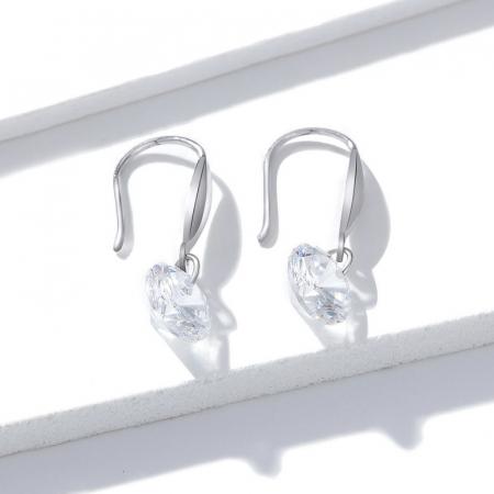 Cercei argint cu cristal stralucitor1