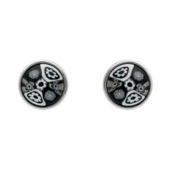 Cercei argint 925 cu sticla de murano ESX0310 MILLEFIORI1