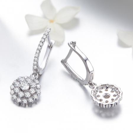 Cercei argint cu zirconii albe [2]