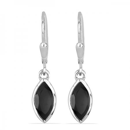 Cercei argint Dorothy, 925, cu onix negru - EVA0034
