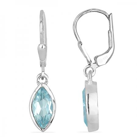Cercei argint Dorothy, 925, cu topaz Sky Blue - EVA00371