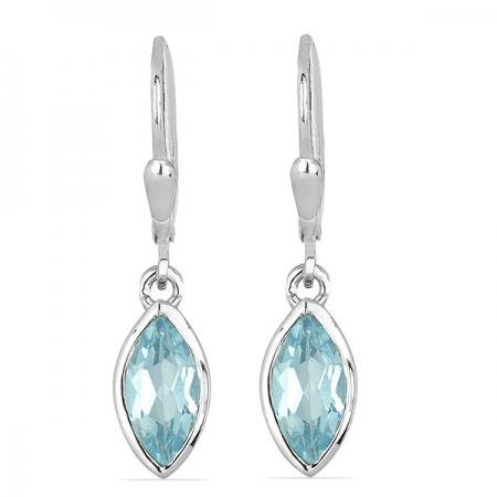 Cercei argint Dorothy, 925, cu topaz Sky Blue - EVA0037