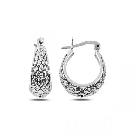 Cercei argint gentuta cu model floral - ETU0140