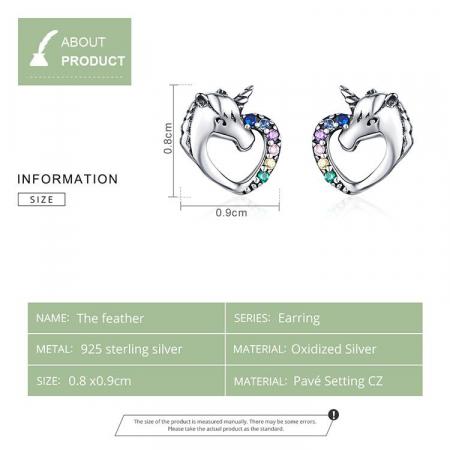 Cercei argint inima de Unicorn5