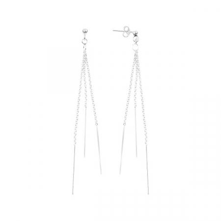 Cercei argint pendula cu 3 lanturi