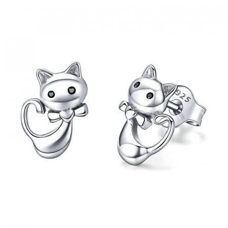 Cercei argint pisicute cu fundite