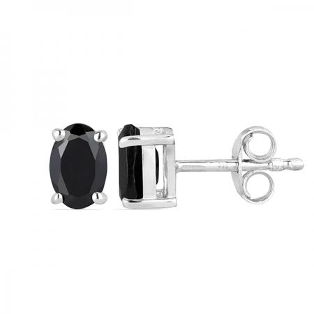 Cercei argint Tereza, 925, cu onix negru - EVA00241