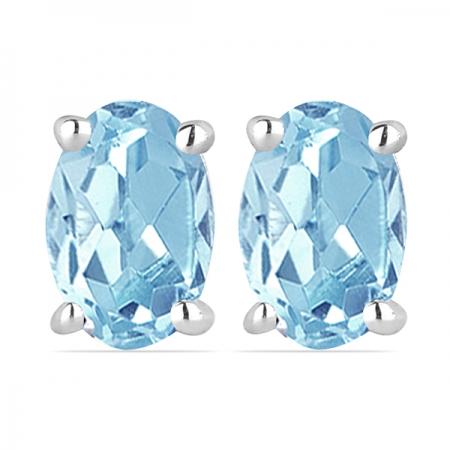 Cercei argint Tereza, 925, cu topaz cer albastru - EVA0025
