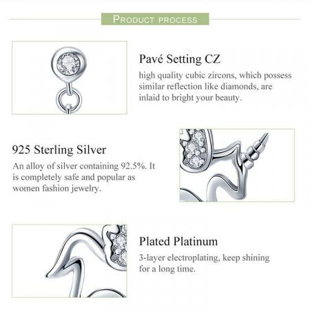 Cercei din argint Baby Unicorn3