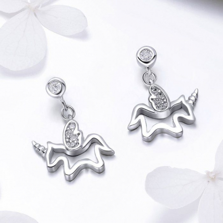 Cercei din argint Baby Unicorn1