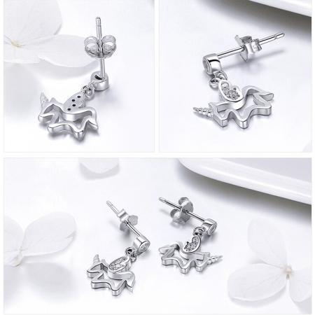Cercei din argint Baby Unicorn2