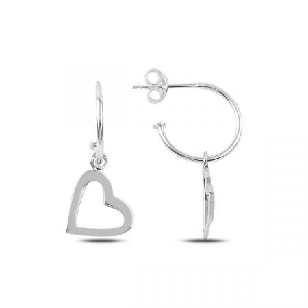 Cercei din argint cu inimioare - ETU0147