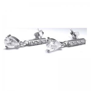 Cercei eleganti din argint 925 rodiat cu zirconii0