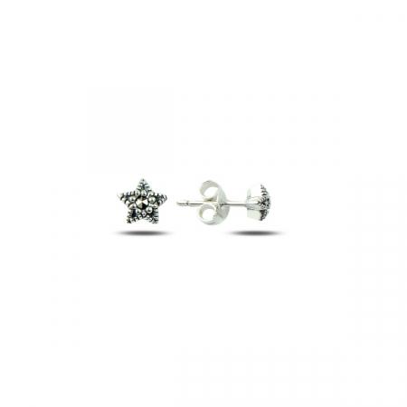 Cercei eleganti din argint 925 stelute cu marcasite - Be Protected ETU0031