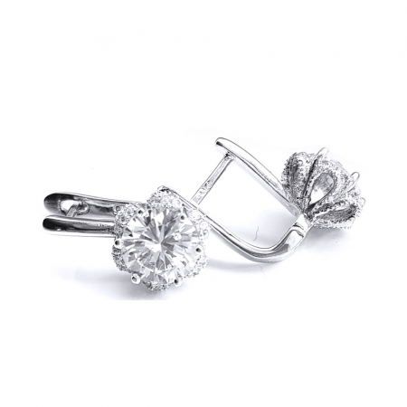 Cercei eleganti din argint 925 rodiat si zirconii CER0747 - Be Nature2