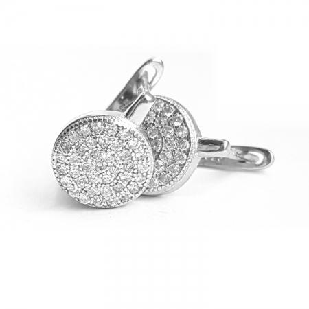 Cercei din argint 925 rodiat si zirconii CER08251