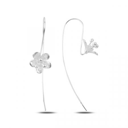 Cercei lungi din argint cu flori - ETU0151