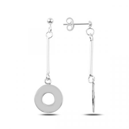 Cercei lungi din argint paiete - ETU0146