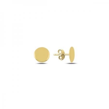 Cercei rotunzi argint 925 aurit cu banuti - Be Authentic ETU0066