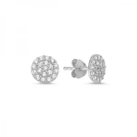 Cercei rotunzi argint 925 cu zirconii - Be Elegant ETU0075