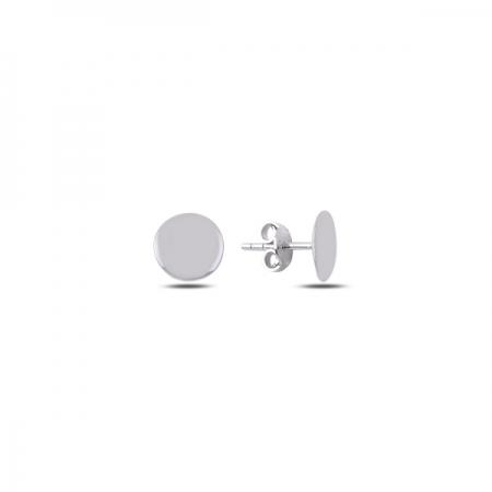 Cercei rotunzi argint 925 rodiat cu banuti - Be Authentic ETU0067