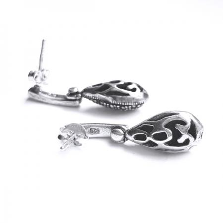 Cercei argint 925 cu marcasite1