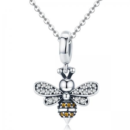 Charm argint 925 cu albinuta si zirconii - Be Nature PST01434