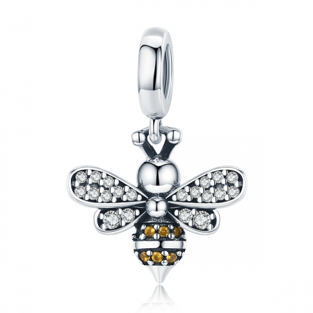 Charm argint 925 cu albinuta si zirconii - Be Nature PST01430