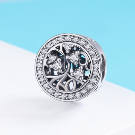 Charm argint 925 cu copacul vietii si zirconii albe - Be Nature  PST01202