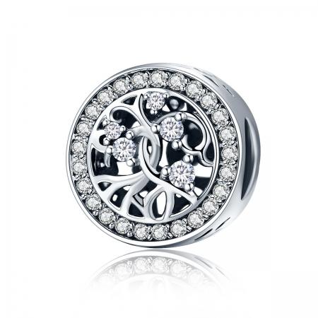 Charm argint 925 cu copacul vietii si zirconii albe - Be Nature  PST0120