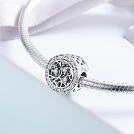 Charm argint 925 cu copacul vietii si zirconii albe - Be Nature  PST01203