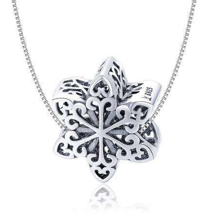 Charm argint 925 cu floare / fulg de nea - Be Nature PST0133 [5]