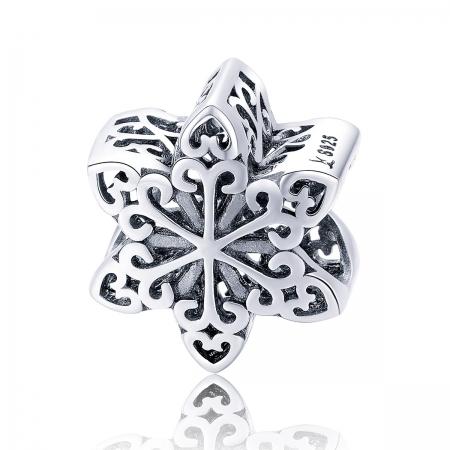 Charm argint 925 cu floare / fulg de nea - Be Nature PST0133