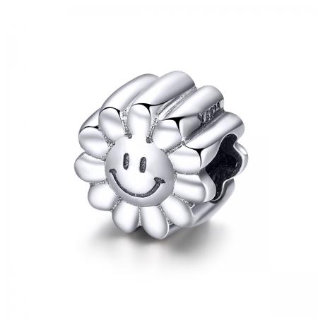 Charm argint 925 cu floarea soarelui zambitoare - Be Nature PST0150