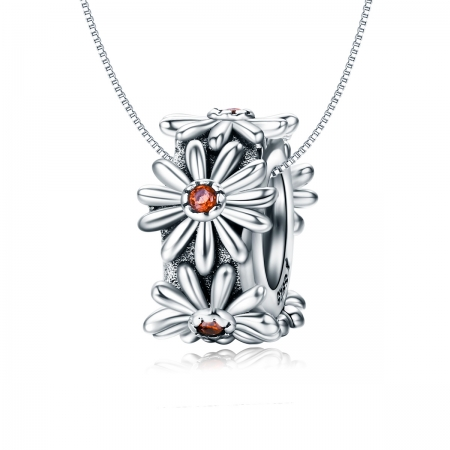 Charm argint 925 cu floricele si zirconii - Be Nature PST0119 [6]