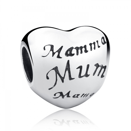 Charm argint 925 cu inimioara Mama - Be in Love PST0019