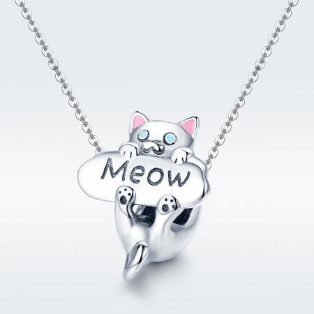 Charm argint 925 cu pisicuta Meow - Be Nature PST01473