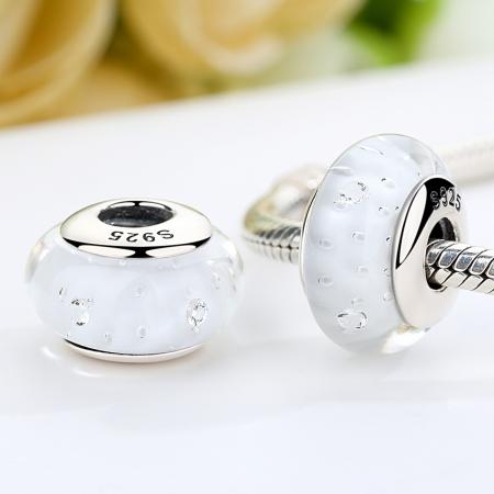 Charm argint 925 cu sticla alba - Be Elegant PST00611