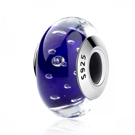 Charm argint 925 cu sticla albastra - Be Elegant PST0069