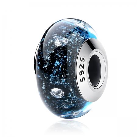 Charm argint 925 cu sticla albastra - Be Elegant PST0071