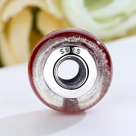 Charm argint 925 cu sticla rosie - Be Elegant PST00662