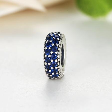 Charm argint 925 cu zirconii albastre - Be Elegant PST00294