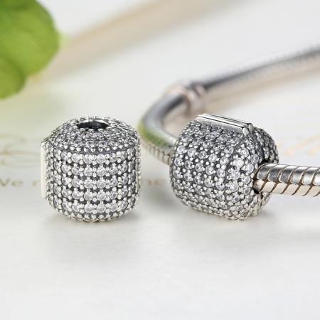Charm argint 925 cu zirconii albe - Be Elegant PST00422