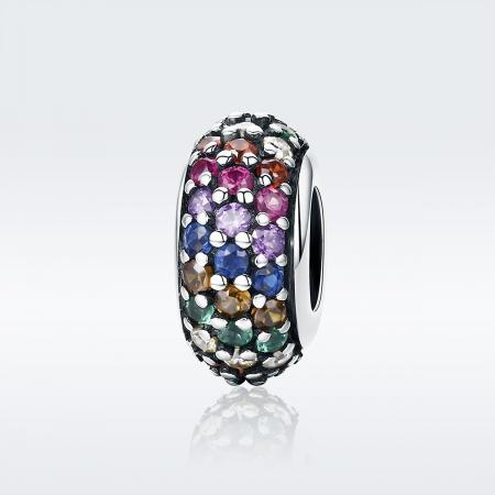 Charm argint 925 cu zirconii multicolore - Be Elegant PST01181