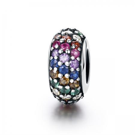 Charm argint 925 cu zirconii multicolore - Be Elegant PST0118