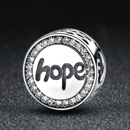 Charm argint 925 Hope-Speranta cu zirconii albe - Be Elegant PST00571