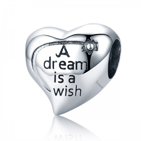 Charm argint 925 inimioara A Dream is a Wish - Be in Love PST0108