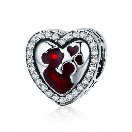 Charm argint 925 inimioara mama si copilul - Be in Love PST0122